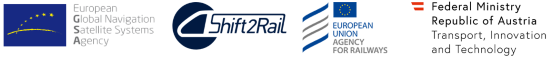 Space for innovation in rail - organisers logos